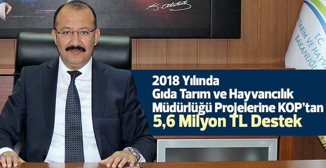 KOP'tan 5,6 Milyon TL Destek
