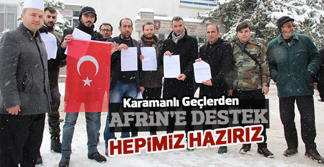 Karamanlı Gençlerden Afrin'e destek