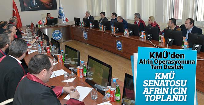 KMÜ Senatosu Afrin İçin Toplandı