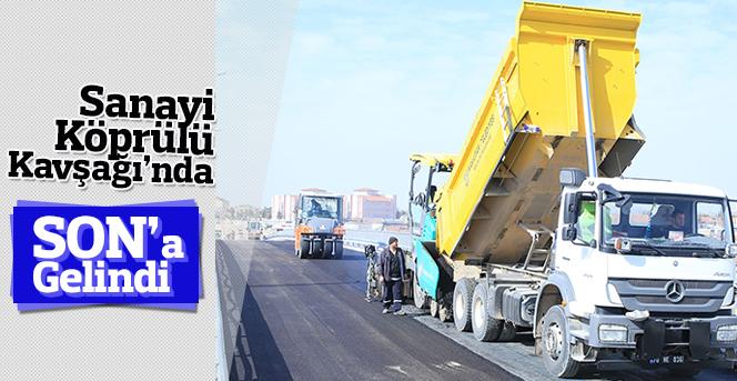 Sanayi Köprülü Kavşağı'nda Son Düzenlemeler Yapılıyor