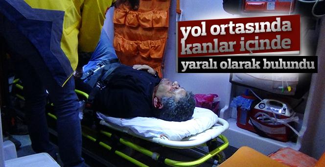 Karaman'da bir kişi, yol ortasında kanlar içinde bulundu