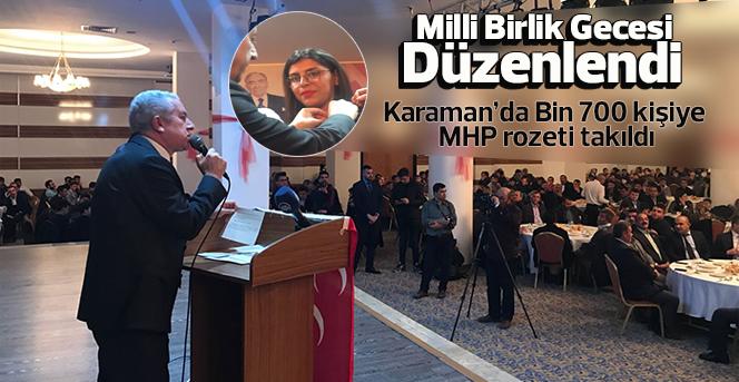 Karaman'da Bin 700 kişiye MHP rozeti takıldı