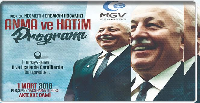 Prof. Dr. Necmettin Erbakan Hocamızı Anma ve Hatim Programı