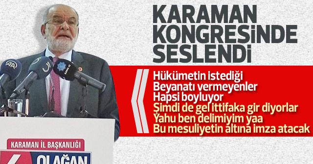 Temel Karamollaoğlu Karamanda konuştu
