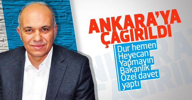 Ertuğrul Çalışkan Ankara'ya davet edildi