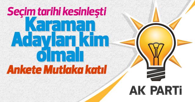 AK Partiden kim aday olmalı