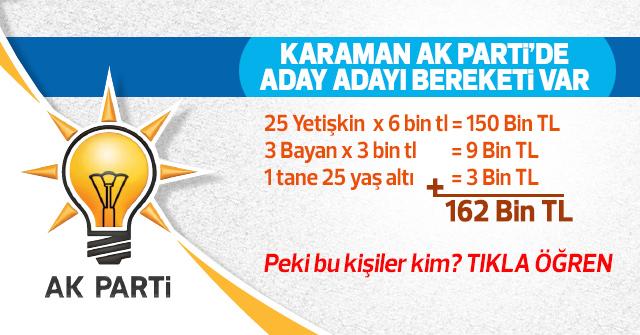 AK Parti'de 29 tane aday adayı var.