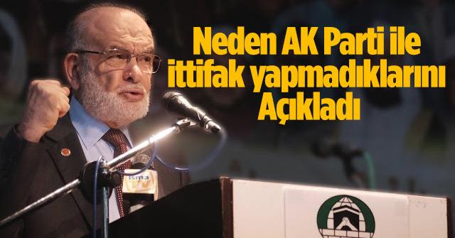 Neden AK Parti ile ittifak yapmadıklarını açıkladı
