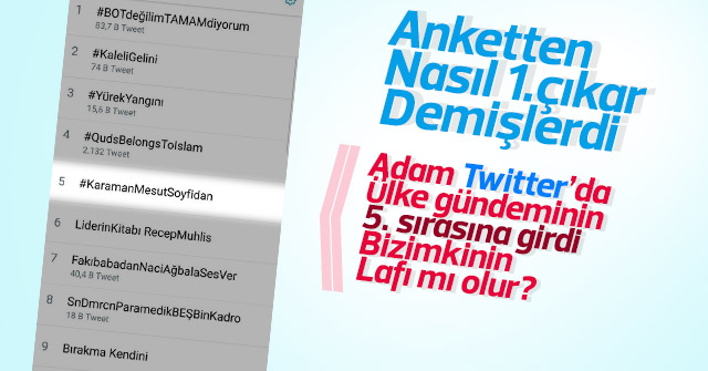 Mesut Soyfidan, Twitter'de ülke gündemine girdi