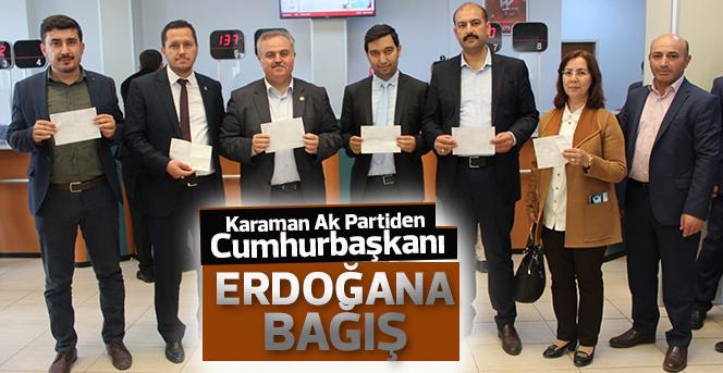 Ak Parti Recep Tayyip Erdoğan İçin Bağış Kampanyasına Katıldı
