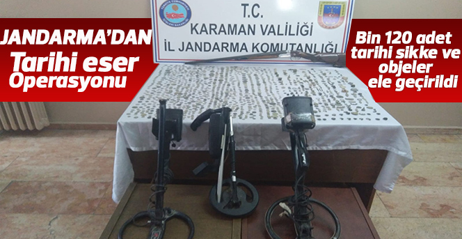 Karaman'da tarihi eser operasyonu