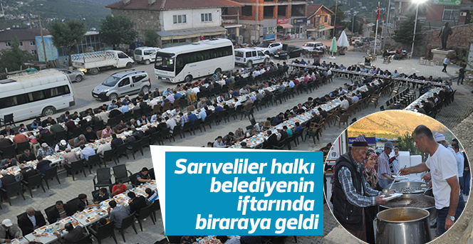 Sarıveliler halkı belediyenin iftarında biraraya geldi