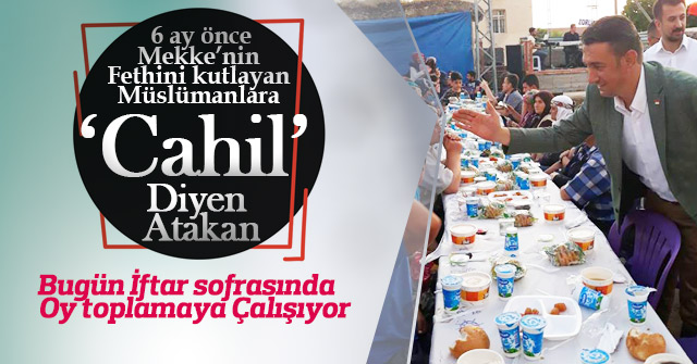 Atakan Ünver iftar sofrasından oy topluyor