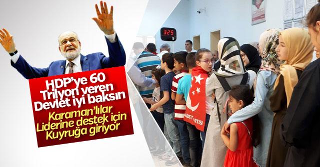 Karamanlılar Karamollaoğlu'na bağış için kuyruğa girdi.