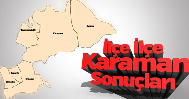 Karaman'da ilçe ilçe sonuçlar