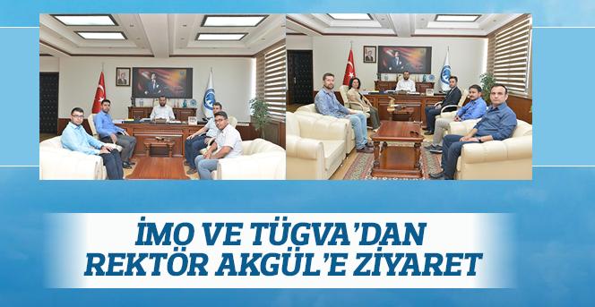 İMO ve TÜGVA'dan Rektör Akgül'e Ziyaret