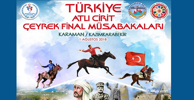Atlı Cirit Çeyrek Final Müsabakaları Karaman'da Yapılacak