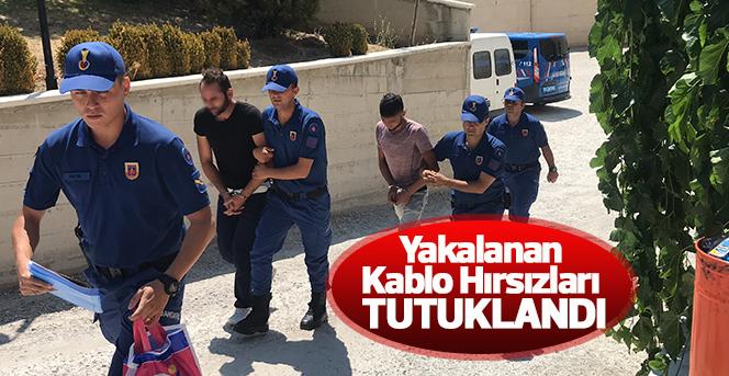 Karaman'da kablo çaldıkları ileri sürülen 2 şahıs tutuklandı
