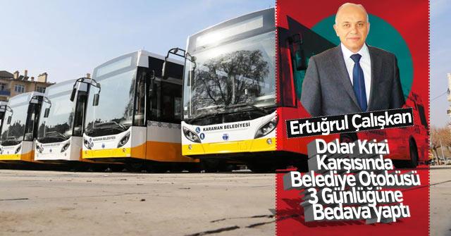Belediye Otobüsleri 3 gün bedava