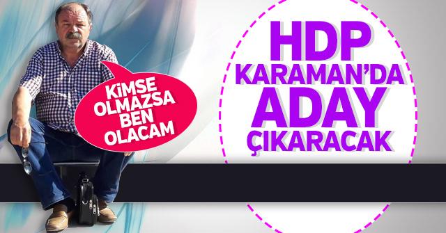 HDP Karaman'da aday çıkaracak