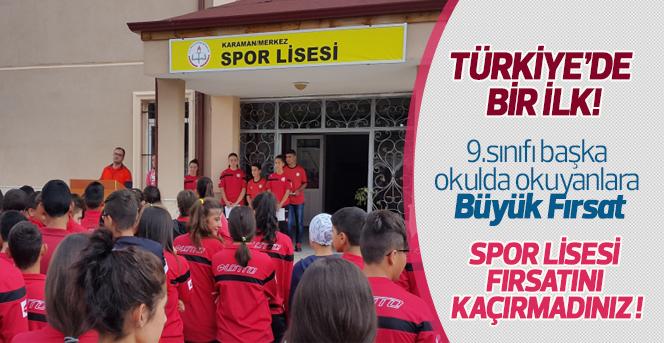 Karaman Spor Lisesi'nden Türkiye'de Bir İlk!