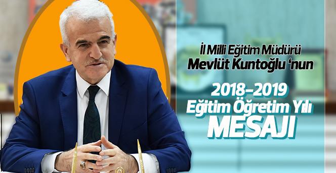 İl Milli Eğitim Müdürü Kuntoğlu'nun İlköğretim Haftası Mesajı