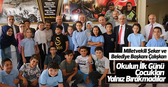 Milletvekili Şeker ve Başkan Çalışkan Okulları Ziyaret Etti