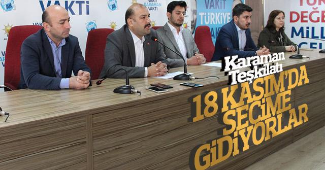 AK Parti Karaman Teşkilatı 18 Kasım'da seçime gidiyor