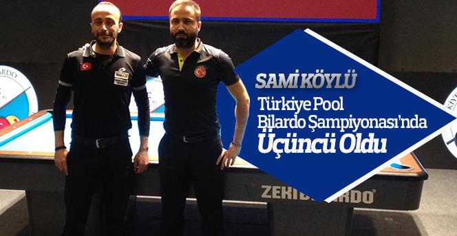 Sami Köylü, Türkiye Üçüncüsü Oldu
