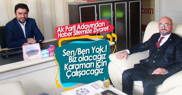 Mahmut Sami Şahin'den haber sitemize ziyaret