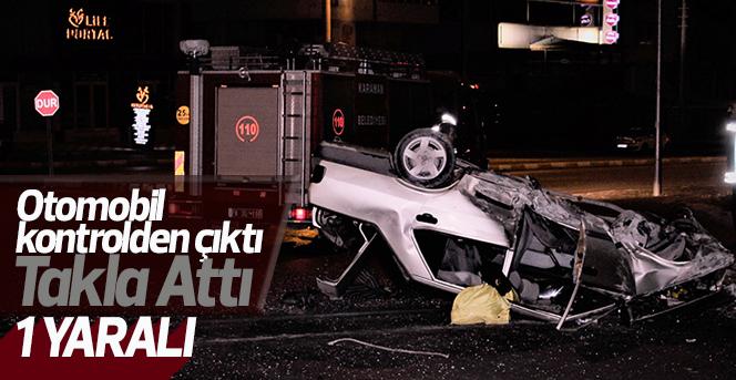 Karaman'da otomobil takla attı: 2 yaralı