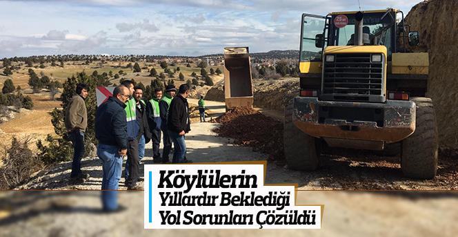 Köylülerin Yıllardır Beklediği Yol Çalışmaları Tamamlandı