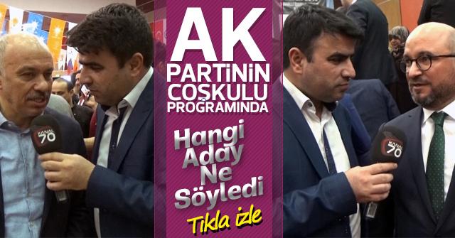 AK Parti Karaman Adaylarının Mesajları