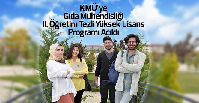 KMÜ'ye Yeni Bir Yüksek Lisans Programı Daha Açıldı