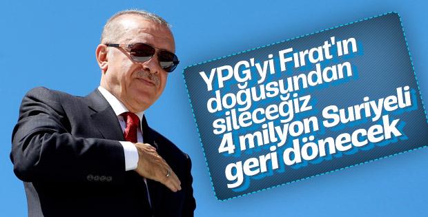 Erdoğan: Suriyelileri güvenli bölgelere göndereceğiz