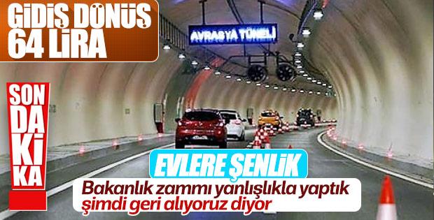Avrasya Tüneli'nde zam kargaşası