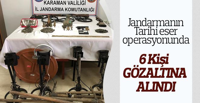 Karaman'da tarihi eser operasyonu: 6 gözaltı