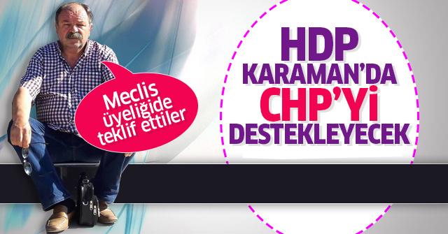 HDP Karaman'da CHP'yi destekleyecek