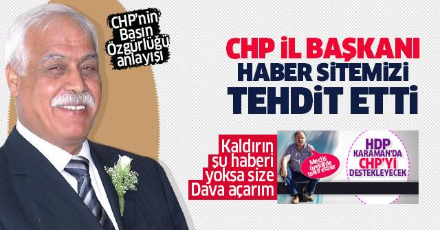 CHP'den Gazetemize Mahkeme tehdidi