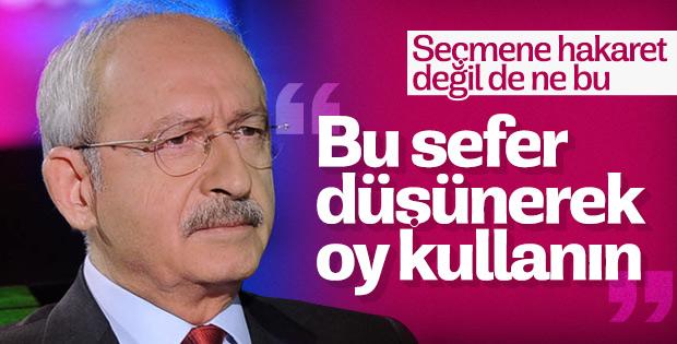 Kılıçdaroğlu: Tek isteğim düşünmeniz