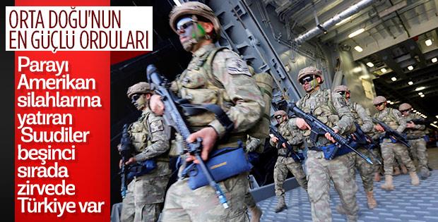 Orta Doğu'nun en güçlü orduları listesinde Türkiye birinci