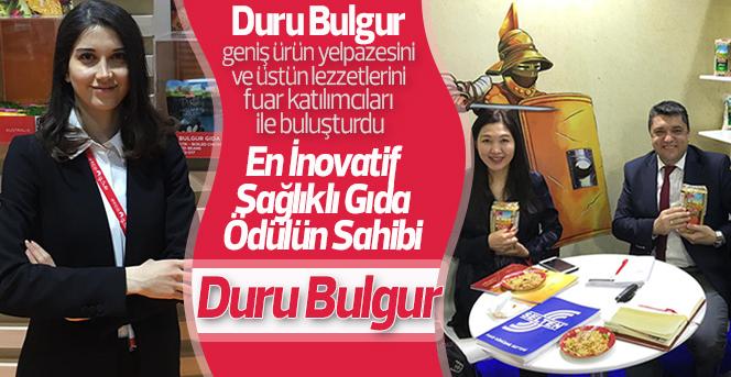 En İnovatif Sağlıklı Gıda Ödülü Duru Bulgur'a geldi