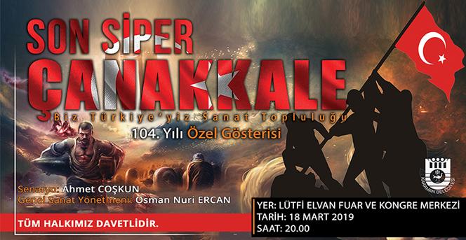 Karaman Belediyesinden Çanakkale Zaferi Tiyatro Oyunu