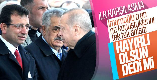 Erdoğan ve İmamoğlu cenaze töreninde karşılaştı