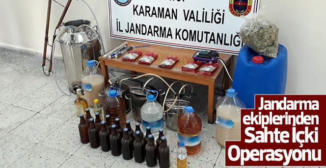 Karaman'da sahte içki ele geçirildi