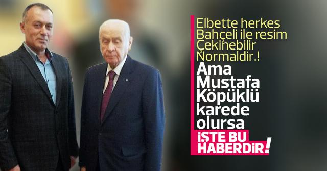 Mustafa Köpüklü, Devlet Bahçeli'yi ziyaret etti.