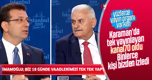Karamaninsesi.com Tartışmayı Canlı yayınladı.