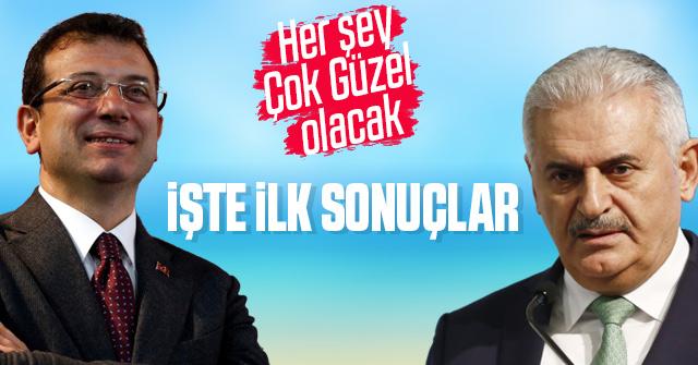 İstanbul seçimlerinde ilk sonuçlar