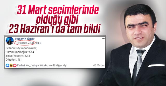 Gazeteci Hüseyin Ölger yine bildi İstanbul tahmini tuttu