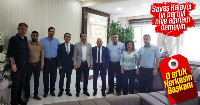 İYİ Parti'den Savaş Kalaycı'ya ziyaret
